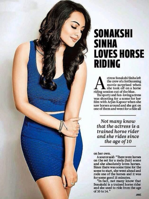 Sonakshi Sinha Loves Horse Riding